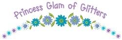 Princess Glam embroidery design