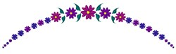 Purple Floral Arch embroidery design
