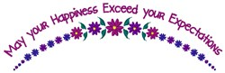 Exceed Expectations embroidery design