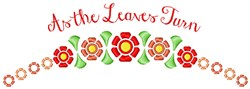 The Leaves Turn embroidery design