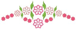 Pink Garland embroidery design