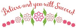 You Will Succed embroidery design