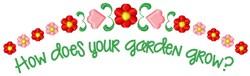 Your Garden Grow embroidery design
