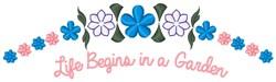 Life In Garden embroidery design