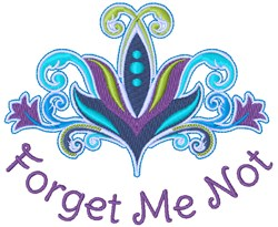 Forget Me Not embroidery design