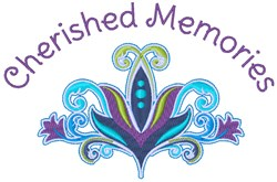 Cherished Memories embroidery design