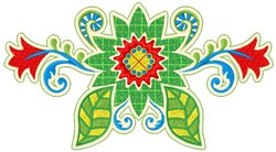 Green Floral embroidery design