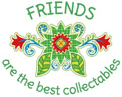 Collectable Friends embroidery design