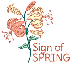 Sign Of Spring embroidery design