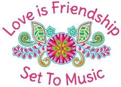 Set To Music embroidery design