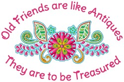 Old Friends embroidery design