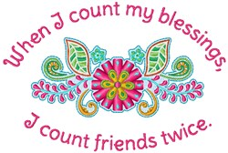 Count My Blessings embroidery design
