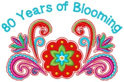 80 Years embroidery design