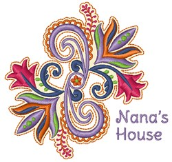Nanas House embroidery design