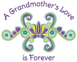 Grandmothers Love embroidery design
