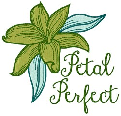 Petal Perfect embroidery design
