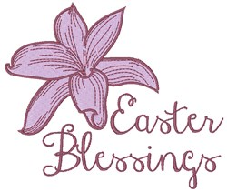 Easters Blessings embroidery design