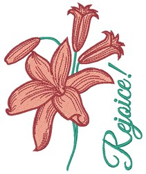 Rejoice Lily embroidery design