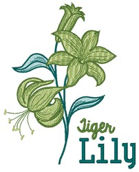 Tiger Lily embroidery design