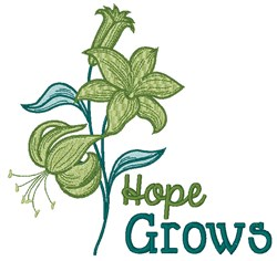 Hope Grows embroidery design