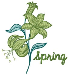 Spring Lily embroidery design