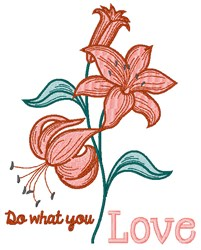 What You Love embroidery design