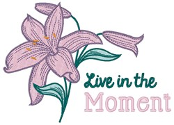 In The Moment embroidery design