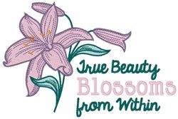 True Beauty embroidery design