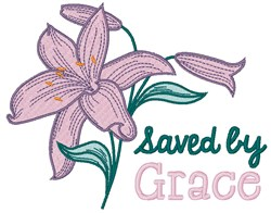 Saved By Grace embroidery design