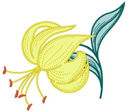 Yellow Lily embroidery design