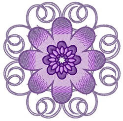 Purple Bloom embroidery design