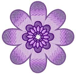 Purple Flower Bloom embroidery design