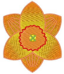 Daffodil Bloom embroidery design