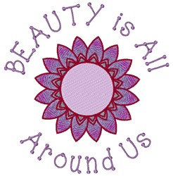 Beauty Around Us embroidery design