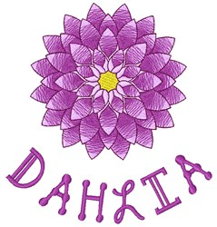 Dahlia embroidery design