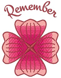 Remember Flower embroidery design