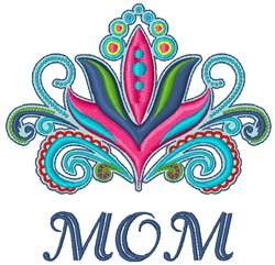 Mom Flower embroidery design