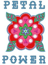 Petal Power embroidery design