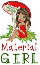 Material Girl embroidery design