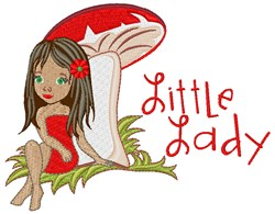 Little Lady embroidery design