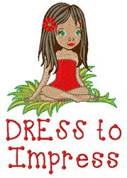 Dress To Impress embroidery design