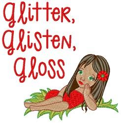 Glitter Gloss embroidery design