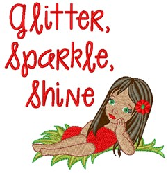 Glitter Shine embroidery design