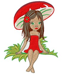 Pretty Girl embroidery design