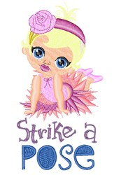 Strike A Pose embroidery design