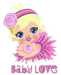 Baby Love embroidery design