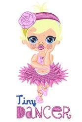Tiny Dancer embroidery design