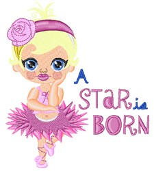 Star Is Born embroidery design