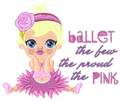 Ballet Pink embroidery design