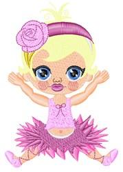 Ballerina Girl embroidery design